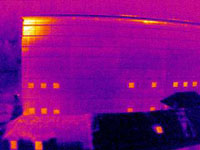 Thermographie isolation façade bâtiment